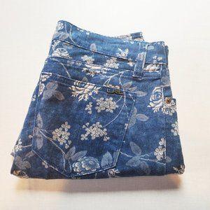 Lauren Ralph Lauren Petite Modern Straight Floral Mid-Rise Jeans